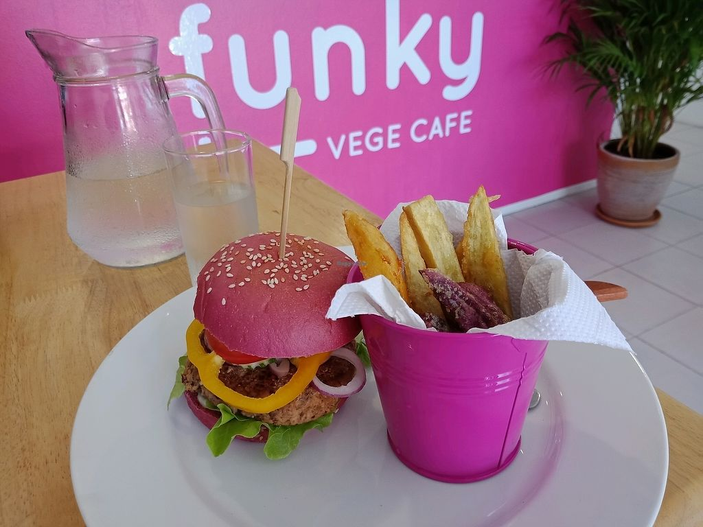 "Photo of Funky Vege Cafe  by <a href=""/members/profile/GerryT"">GerryT</a> <br/>Vegan Burger and fries <br/> March 13, 2018  - <a href='/contact/abuse/image/108179/370072'>Report</a>"