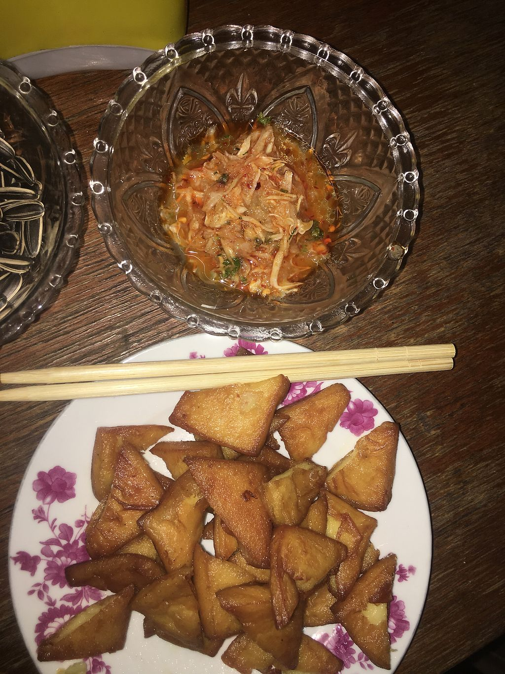 """Photo of Tofu Palace  by <a href=""""/members/profile/KyleMacyHall"""">KyleMacyHall</a> <br/>Best tofu I've ever had, made from chickpeas with unique dipping sauce.  <br/> December 30, 2017  - <a href='/contact/abuse/image/108181/340769'>Report</a>"""