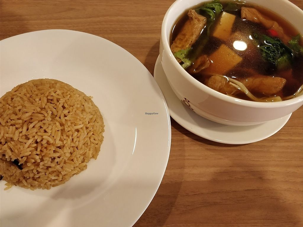 """Photo of Maitree Cafe   by <a href=""""/members/profile/JimmySeah"""">JimmySeah</a> <br/>yam rice set with a bowl of soup <br/> March 31, 2018  - <a href='/contact/abuse/image/108183/378772'>Report</a>"""
