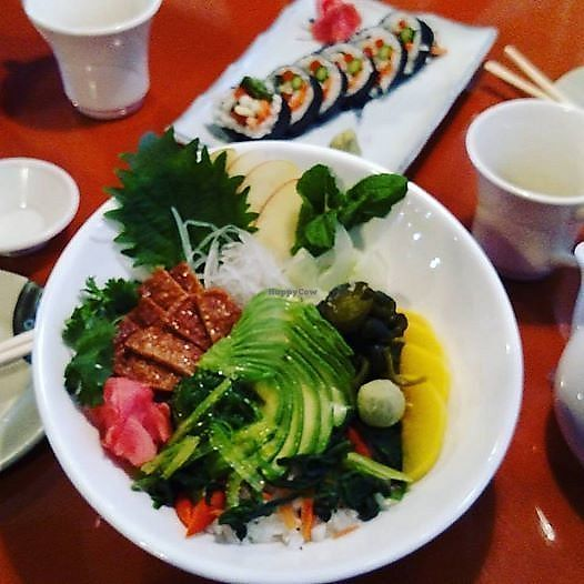 """Photo of Zen of Sushi  by <a href=""""/members/profile/AmyFord"""">AmyFord</a> <br/>Chirashi sushi all pure vegan! <br/> December 30, 2017  - <a href='/contact/abuse/image/108202/340920'>Report</a>"""