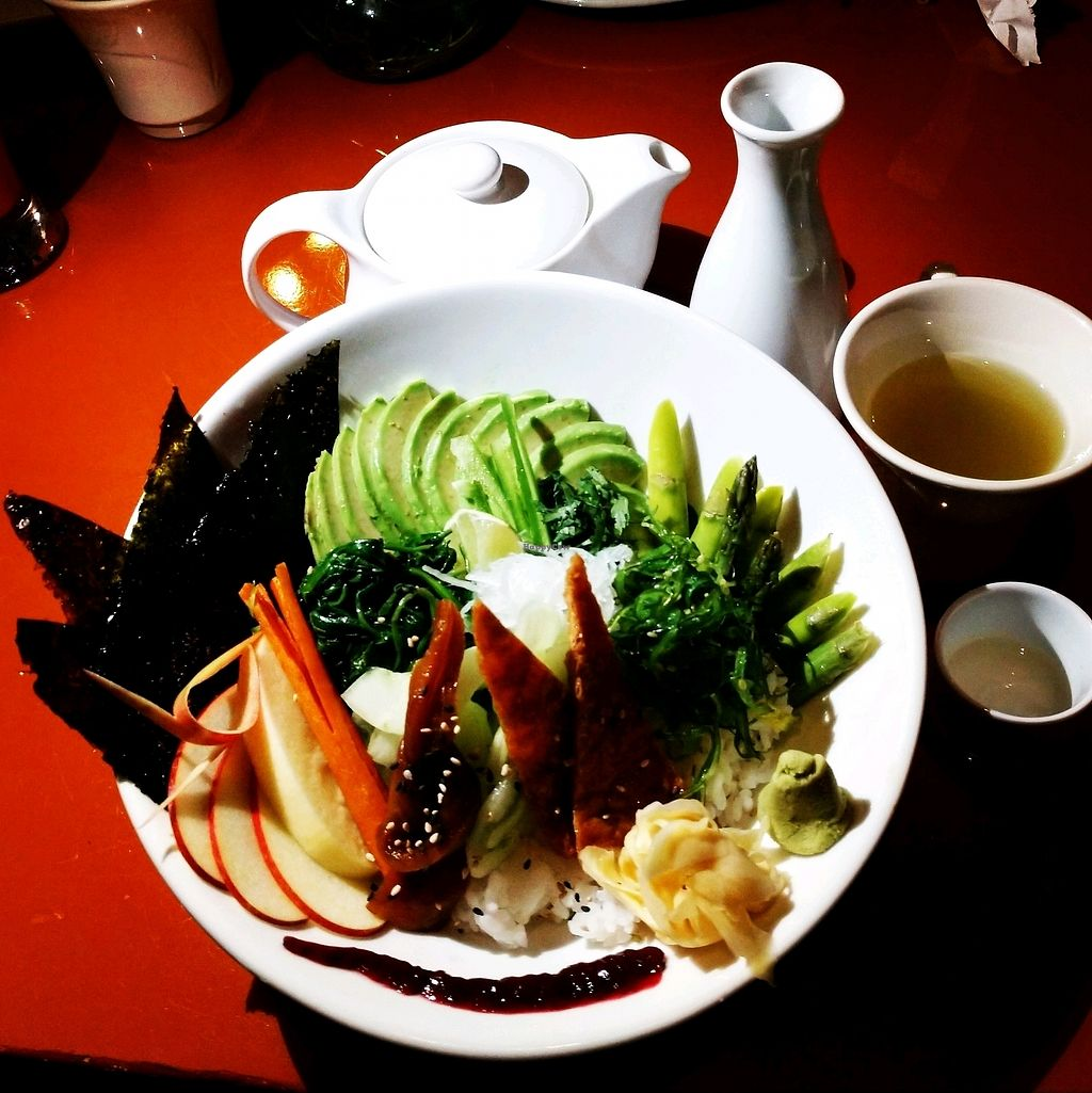"""Photo of Zen of Sushi  by <a href=""""/members/profile/AmyFord"""">AmyFord</a> <br/>Vegan Chirashi Sushi <br/> January 19, 2018  - <a href='/contact/abuse/image/108202/348579'>Report</a>"""
