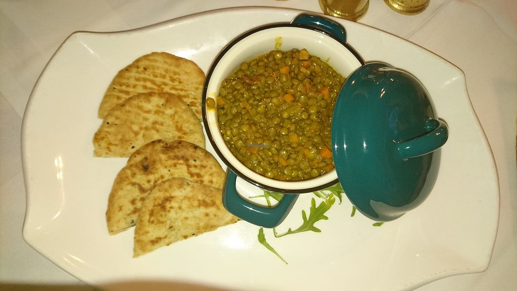 """Photo of Restaurant Pizzeria Dobner  by <a href=""""/members/profile/christa.fleck"""">christa.fleck</a> <br/>Indian lentils dal with naan bread. Very tasty :) <br/> March 9, 2018  - <a href='/contact/abuse/image/108205/368606'>Report</a>"""