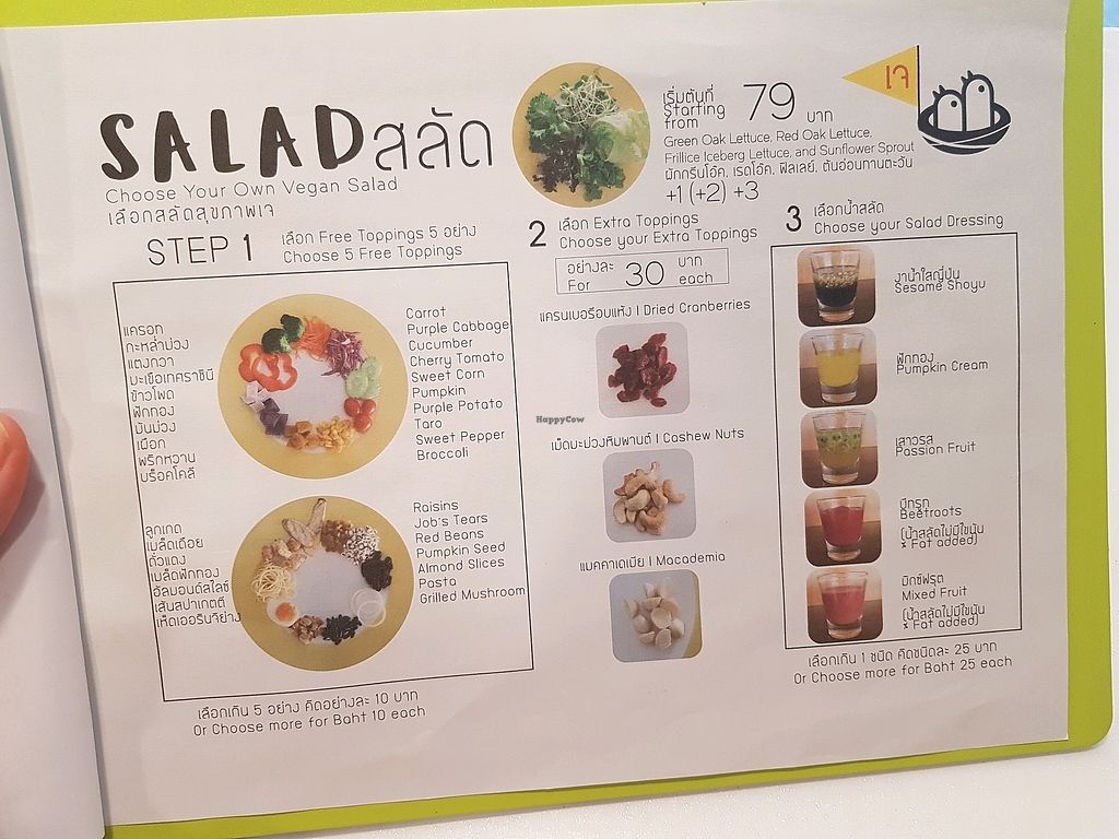 """Photo of Lali's Birdnest Cafe  by <a href=""""/members/profile/vegatleticas"""">vegatleticas</a> <br/>Menu 5 (Salads) <br/> March 3, 2018  - <a href='/contact/abuse/image/108228/366113'>Report</a>"""