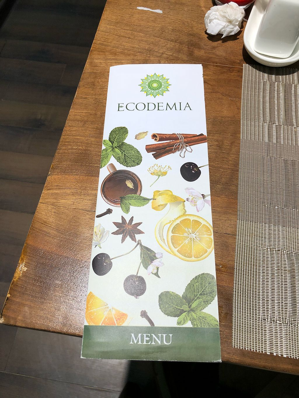 """Photo of Ecodemia  by <a href=""""/members/profile/VegMikel"""">VegMikel</a> <br/>Menu cover <br/> December 30, 2017  - <a href='/contact/abuse/image/108231/340934'>Report</a>"""