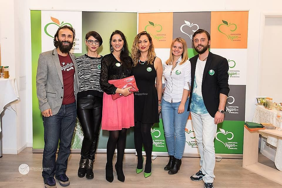 "Photo of Asociatia Veganilor din Romania  by <a href=""/members/profile/CristinaNitu"">CristinaNitu</a> <br/>Launch night of the Romanian Vegan Association <br/> April 10, 2018  - <a href='/contact/abuse/image/108234/383445'>Report</a>"