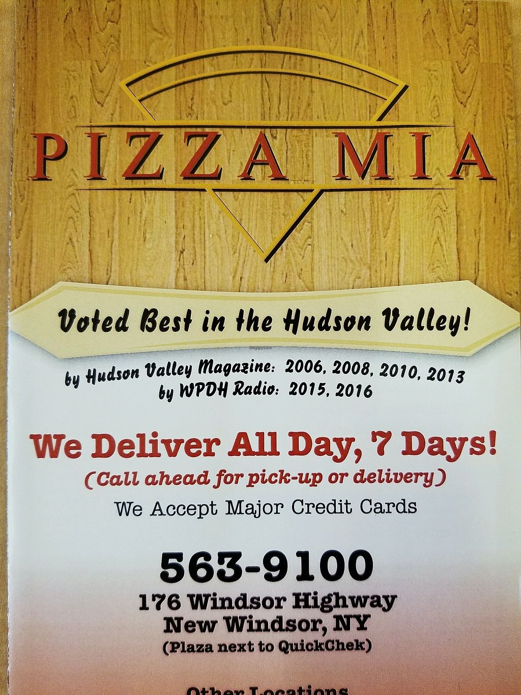 """Photo of Pizza Mia  by <a href=""""/members/profile/MichaelBarootjian"""">MichaelBarootjian</a> <br/>menu! <br/> December 30, 2017  - <a href='/contact/abuse/image/108250/340967'>Report</a>"""