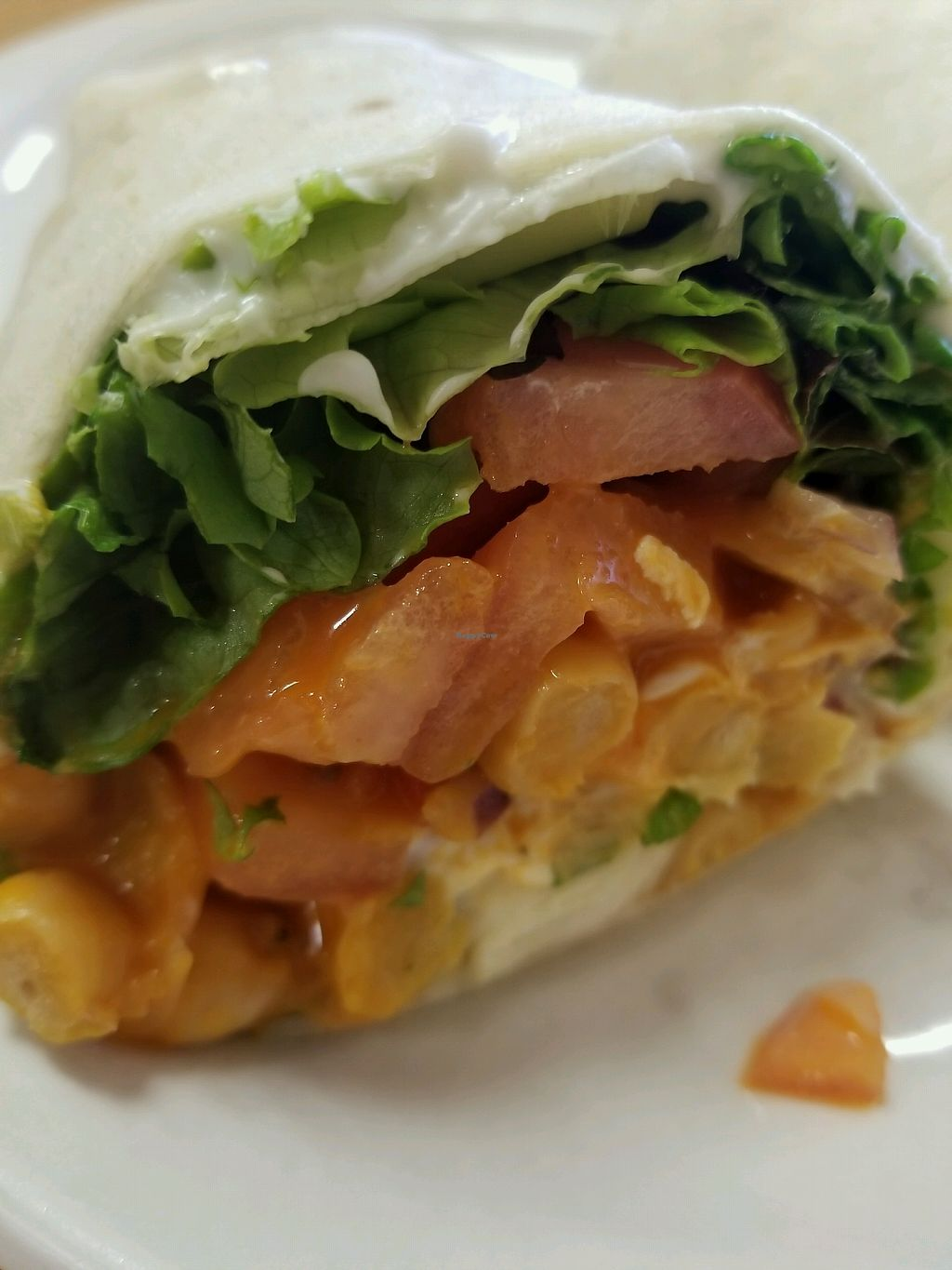 """Photo of Pizza Mia  by <a href=""""/members/profile/MichaelBarootjian"""">MichaelBarootjian</a> <br/>buffalo chickpea wrap with vegan mayo!!! <br/> February 15, 2018  - <a href='/contact/abuse/image/108250/359732'>Report</a>"""