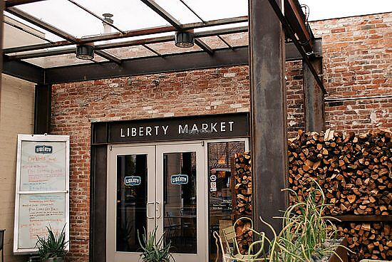 """Photo of Liberty Market  by <a href=""""/members/profile/VeganMomof2"""">VeganMomof2</a> <br/>Liberty Market Side Entrance  <br/> December 30, 2017  - <a href='/contact/abuse/image/108256/341045'>Report</a>"""