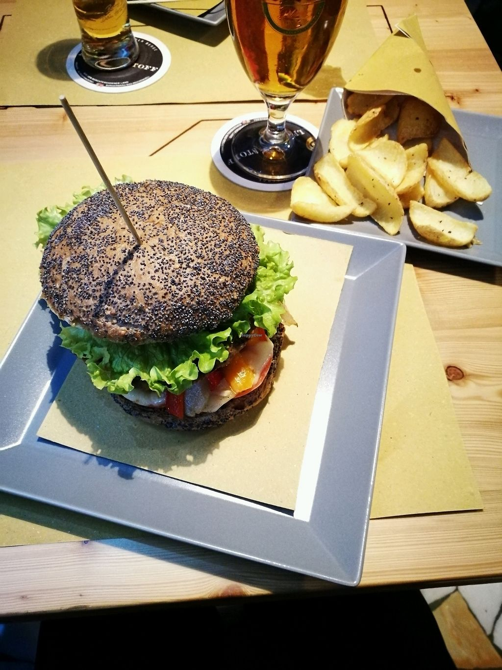 "Photo of Brenthaus Beer & Food  by <a href=""/members/profile/VegDre85"">VegDre85</a> <br/>chickpea burger <br/> January 5, 2018  - <a href='/contact/abuse/image/108264/343276'>Report</a>"