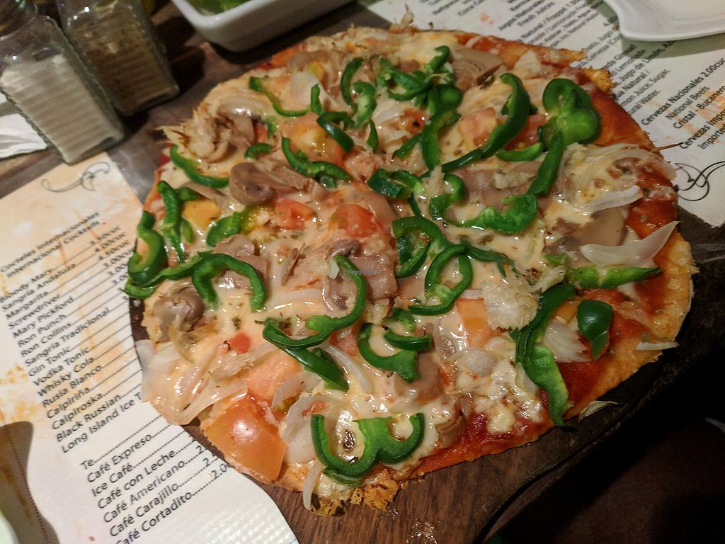 """Photo of Bar Cafe Restaurante Giroud J&J  by <a href=""""/members/profile/zenmaestro"""">zenmaestro</a> <br/>veggie pizza. yum. you can order without cheese and other veggies <br/> January 2, 2018  - <a href='/contact/abuse/image/108284/342287'>Report</a>"""
