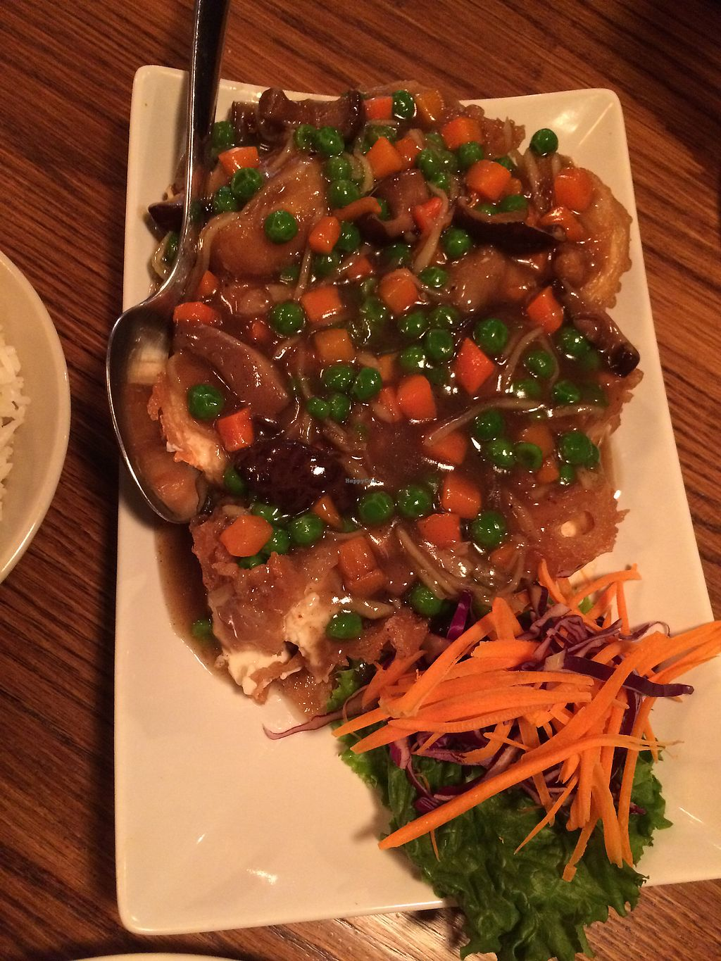 """Photo of 90 Degree Bangkok Cafe & Bar  by <a href=""""/members/profile/Arti"""">Arti</a> <br/>chef special soft tofu - yumm! <br/> December 31, 2017  - <a href='/contact/abuse/image/108287/341261'>Report</a>"""