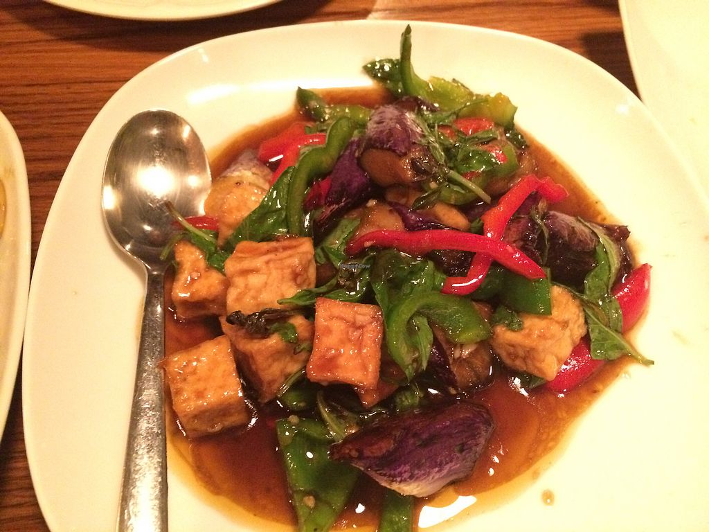 """Photo of 90 Degree Bangkok Cafe & Bar  by <a href=""""/members/profile/Arti"""">Arti</a> <br/>eggplant with tofu <br/> April 4, 2018  - <a href='/contact/abuse/image/108287/380647'>Report</a>"""