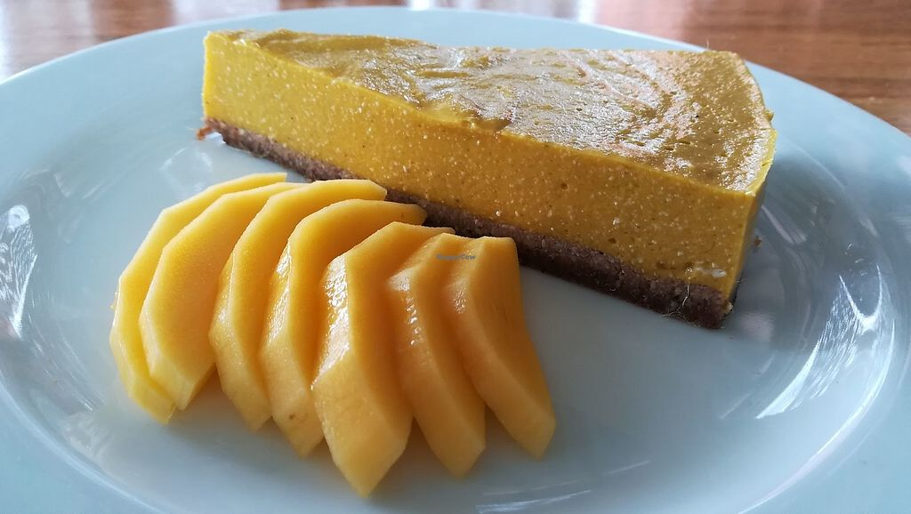 """Photo of Green-Go Garden  by <a href=""""/members/profile/ChoyYuen"""">ChoyYuen</a> <br/>Vegan mango cheese cake with dates and almond crust, US$3.50 only <br/> April 30, 2018  - <a href='/contact/abuse/image/108307/392985'>Report</a>"""