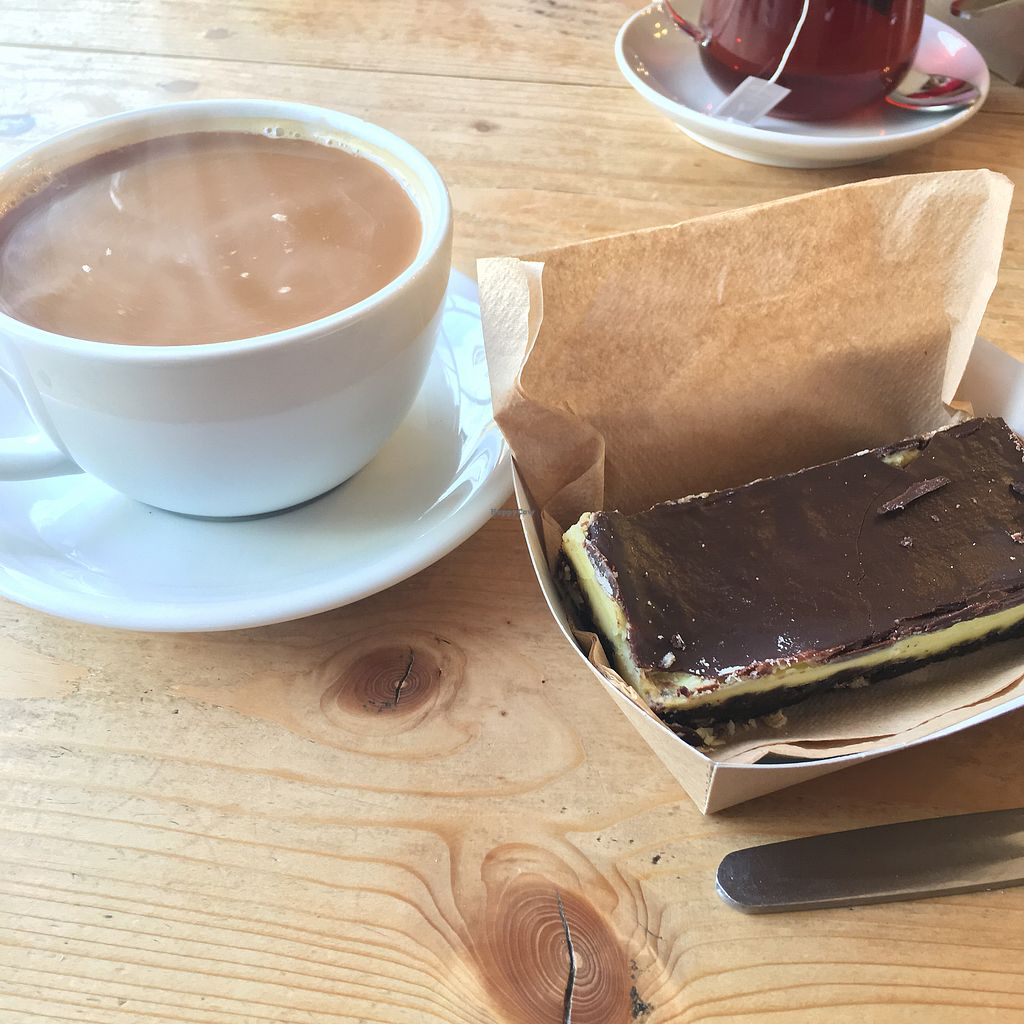 """Photo of The Magic Bean Emporium  by <a href=""""/members/profile/HannahFox"""">HannahFox</a> <br/>Vegan mint chocolate slice, yum! <br/> March 2, 2018  - <a href='/contact/abuse/image/108322/365732'>Report</a>"""