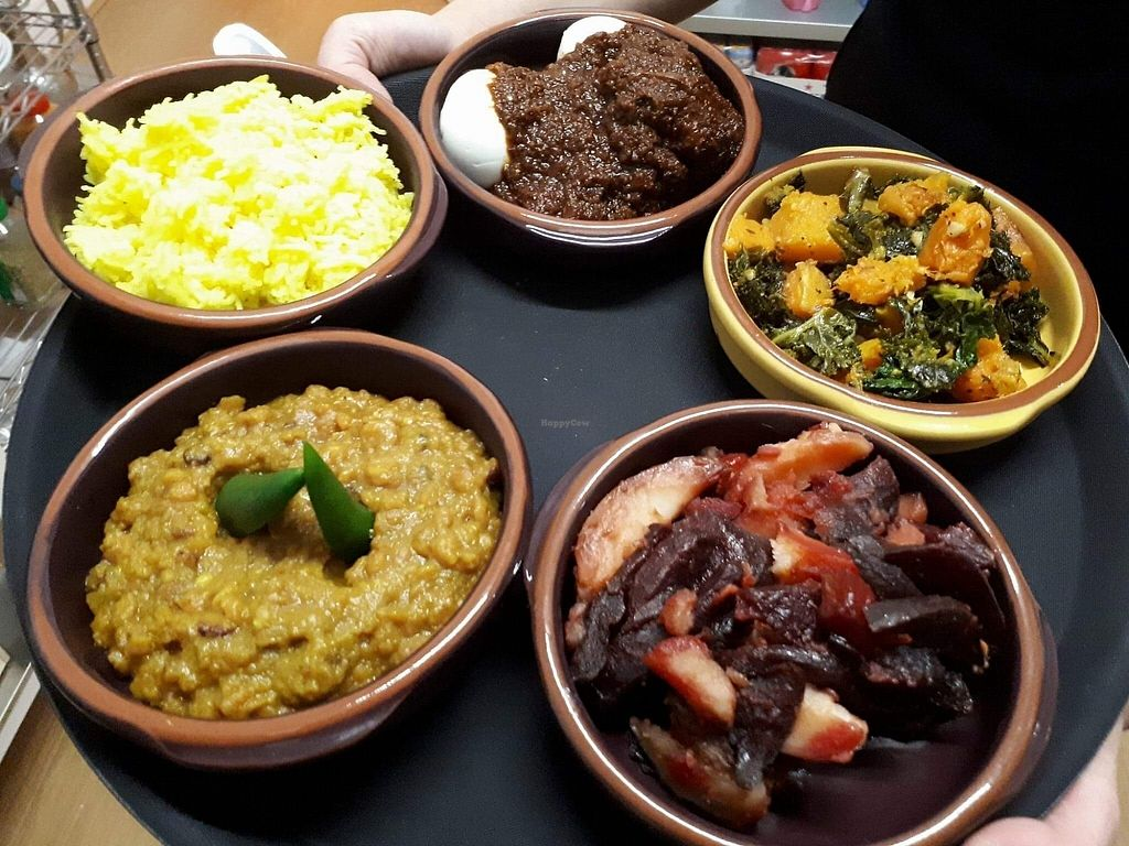 "Photo of Abyssinia Kitchen  by <a href=""/members/profile/Hilina"">Hilina</a> <br/>Ethiopian Sharing platter  <br/> January 6, 2018  - <a href='/contact/abuse/image/108358/343748'>Report</a>"