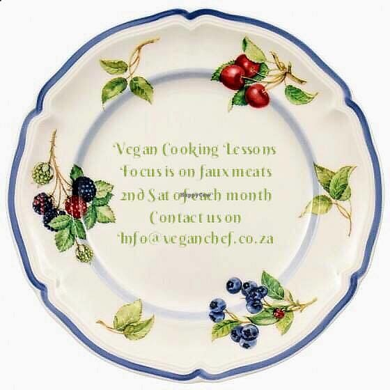 """Photo of Just Vegan  by <a href=""""/members/profile/%C5%A0%C3%A1rkaHedstr%C3%B6m"""">ŠárkaHedström</a> <br/>COOKING CLASSES ON FAUX MEATS  Book any one of  below dates/choice of prefered 5 hour class,  at R500.00 per person.  Join Vegan Chef On The Run with Šárka Hedström  for a great new start for change.  Want to try vegan, but not quite sure how to incorporate plant based meats into your meal plan – then come and have a fun day with us, as we show you how!  Just Vegan Cooking Classes is for everyone who wants to help stop animal exploitation, improve environment, eat healthy, help curb worldwide hunger, learn something new, have fun, & make new friends – an exciting, enjoyable experience, join Šárka Hedström at Vegan Chef On The Run for Just Vegan!  A wonderful day of cooking, second Saturday of each month! Loads of fun and excellent value for money! The focus is on faux meats. Cost for the day – R500.00 P/P.  Please contact Šárka via: info@veganchef.co.za for banking details, to mail through POP to confirm, and to book.  Lesson commences at AM: 9:00, and completes at 14:00 (5 hours). Price incl of tea, breakfast/brunch, beverage, and late lunch cook offs, petit fours, and coffee. All ingredients and materials needed for lessons are provided. One on one, and or group cook lessons. Learn how to bake rolls, and create faux meats (ham, bacon, beef, mince, chicken, fish, and scramble), using a variety of textures and flavours. You will also have a better understanding of pantry essentials and kitchen equipment to enhance vegan cooking. Recipe material and recommended suppliers will be mailed to you as you complete. You will take home samples of each recipe that you have prepped, developed, and cooked during your day together. Itinerary:  9:00 – 11:00; Prepping dough for rolls. Prepping ham, bacon, beef, mince, chicken, fish – working with tofu, textured vegetable protein, curd skins, seitan, and learning how to manipulate flavours.  11.00 – 12:00; Bake rolls. scramble tof"""