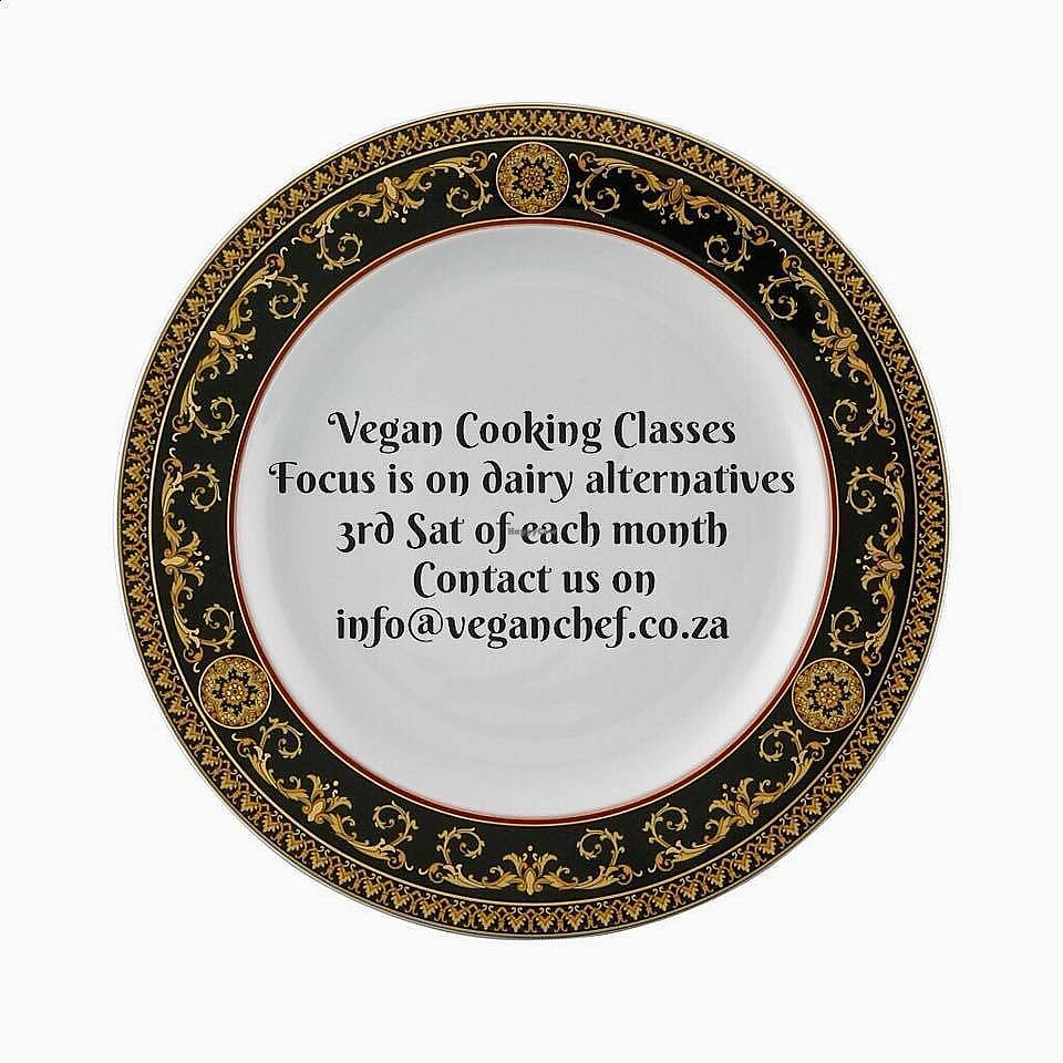 """Photo of Just Vegan  by <a href=""""/members/profile/%C5%A0%C3%A1rkaHedstr%C3%B6m"""">ŠárkaHedström</a> <br/>COOKING CLASSES ON DAIRY ALTERNATIVES  Book any one of  below dates/choice of prefered 5 hour class,  at R500.00 per person.  Want to switch from dairy to dairy alternatives but don't know how? Are you finding it difficult or frustrating to find dairy alternatives, or do you find these processed versions still a little on the expensive side? Allow us to show you during another fun filled day, how to make your own plant based milk, butter, yoghurt, cheese, chocolate and cheesecake! We want to help you consume healthy versions of processed dairy foods, and take charge of your budgets.  Every third Saturday on each month, our focus is on dairy alternatives, do join us, as we show you how.  Join Vegan Chef On The Run with Šárka Hedström for a great new start for change.  Just Vegan Cooking Classes: for everyone who wants to help stop animal exploitation, improve environment, eat healthy, help curb worldwide hunger, learn something new, have fun, & make new friends – an exciting, enjoyable experience, join Šárka Hedström at Vegan Chef On The Run for Just Vegan!  A wonderful day of cooking, 3rd Saturday of each month! Loads of fun and excellent value for money! The focus is on dairy alternatives. Cost for the day – R500.00 P/P.  Please contact Šárka via: info@veganchef.co.za for banking details, to mail through POP to confirm, and to book.     Lesson commences at AM: 9:00, and completes at 14:00 (5 hours). Price incl of tea, brunch/lunch, and coffee. All ingredients and materials needed for lessons are provided. One on one, and or group cook classes. Learn how to make your own plant based milk, butter, yoghurt, cheese, chocolate and cheesecake. You will also have a better understanding of pantry essentials and kitchen equipment to enhance vegan cooking. Recipe material and recommended suppliers will be mailed to you as you complete. Itinerary:  09h00 – 10h00: Preparation"""