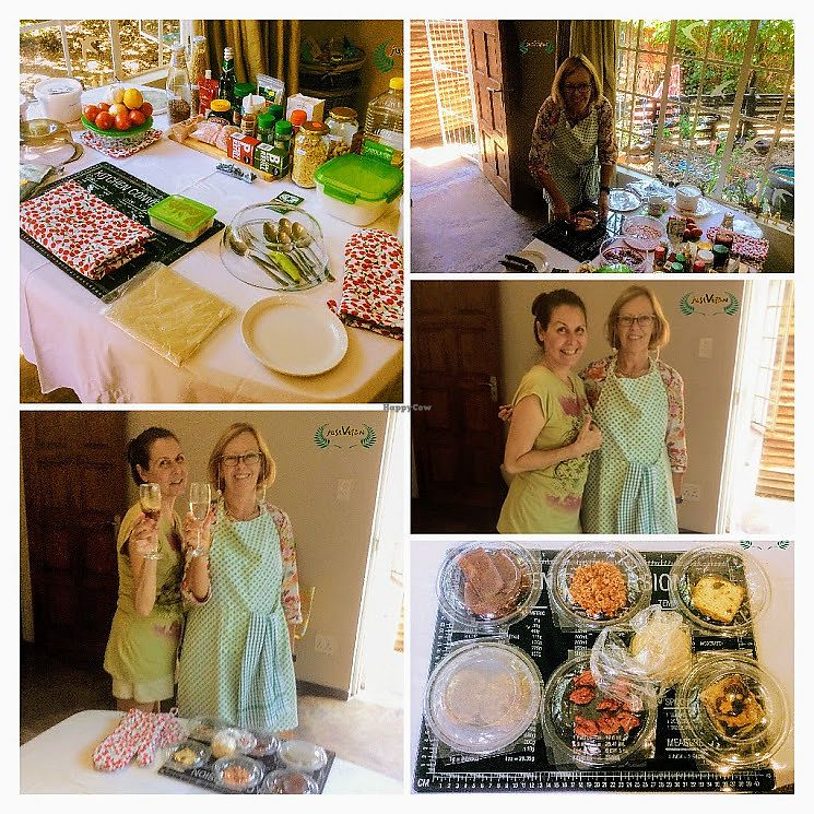 """Photo of Just Vegan  by <a href=""""/members/profile/%C5%A0%C3%A1rkaHedstr%C3%B6m"""">ŠárkaHedström</a> <br/>Another memorable day at Just Vegan Cooking Class, the first one for 2018, with many more scheduled to come.   Exciting, vibrant, intense, encouraging, highly informative, and rewarding lessons on how to completely swap out all meats from the meal plan!   You will leave feeling completely inspired with knowledge and know how to mix and match meals.   For further details, view www.justvegan.co.za   Santé , to good health!  <br/> January 14, 2018  - <a href='/contact/abuse/image/108364/346436'>Report</a>"""