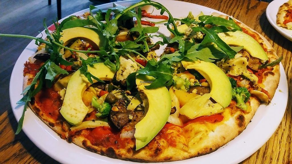 """Photo of Doppio Zero Pineslopes  by <a href=""""/members/profile/%C5%A0%C3%A1rkaHedstr%C3%B6m"""">ŠárkaHedström</a> <br/>The very vegan pizza is a delicious draw card for vegans, our personal favourite, so, forgive that one slice was already missing by the time we took this photo for you, we hope you can forgive us!  There is loads of vegan choice on their menu, highly recommend, you will never go hungry here!      <br/> January 3, 2018  - <a href='/contact/abuse/image/108369/342527'>Report</a>"""