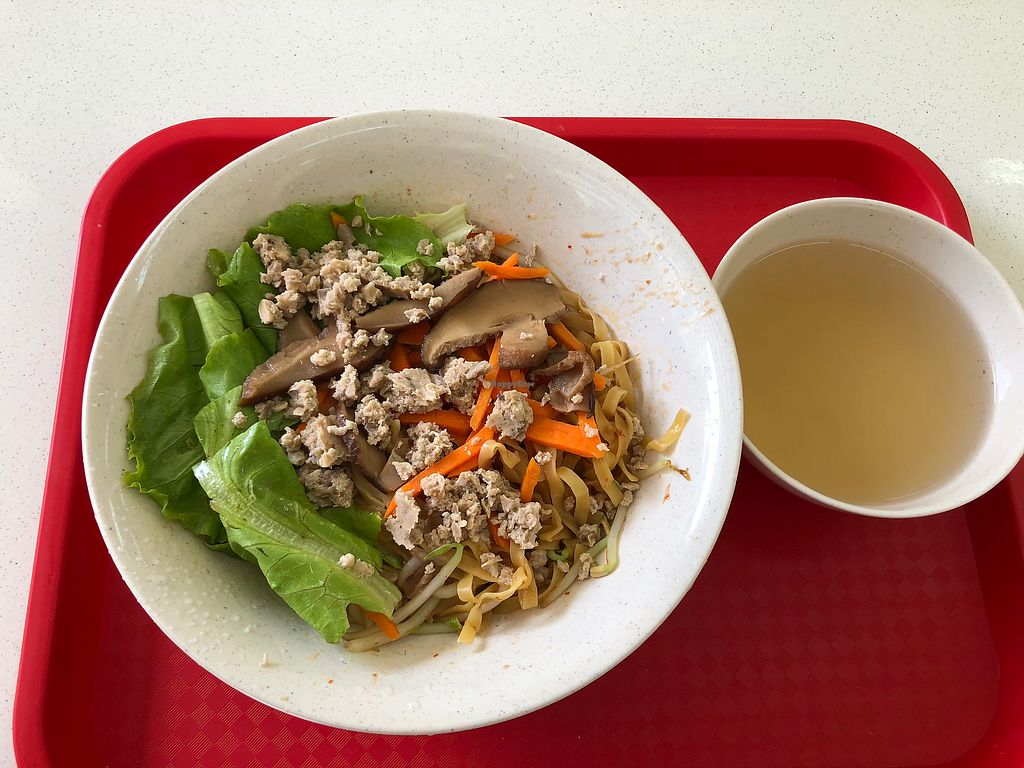 """Photo of Pine Green Vegan Cafe  by <a href=""""/members/profile/CherylQuincy"""">CherylQuincy</a> <br/>Bak Chor Mee <br/> January 18, 2018  - <a href='/contact/abuse/image/108370/347914'>Report</a>"""