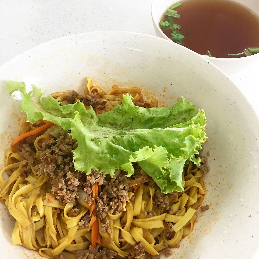 """Photo of Pine Green Vegan Cafe  by <a href=""""/members/profile/ChenHongwen"""">ChenHongwen</a> <br/>Best Bak Chor Mee <br/> March 31, 2018  - <a href='/contact/abuse/image/108370/378589'>Report</a>"""