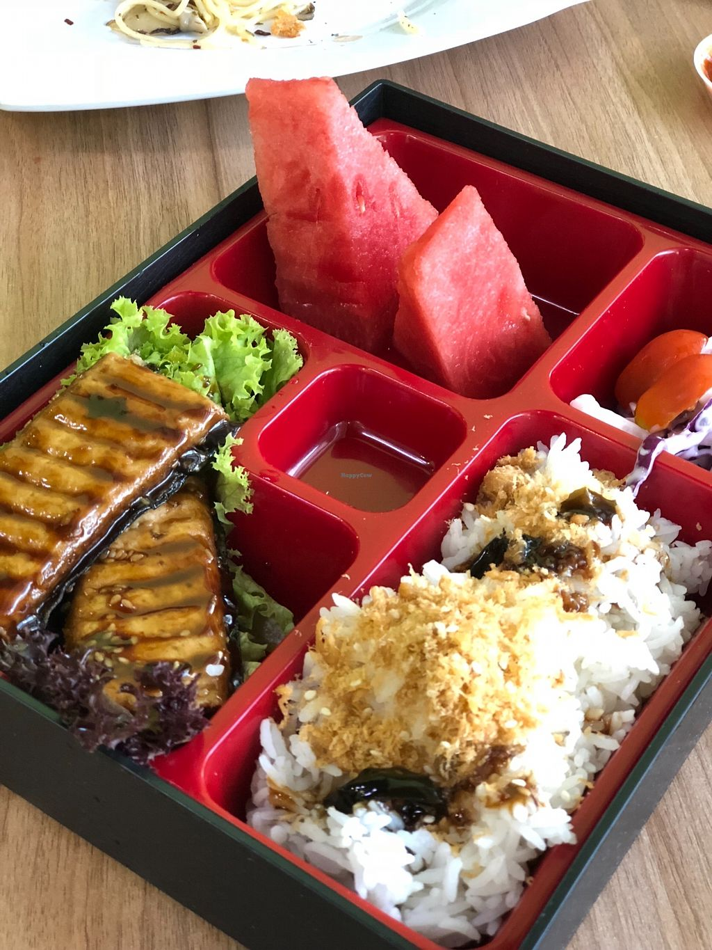 """Photo of Pine Green Vegan Cafe  by <a href=""""/members/profile/CTzhihui"""">CTzhihui</a> <br/>Teriyaki Unagi Rice <br/> April 17, 2018  - <a href='/contact/abuse/image/108370/387005'>Report</a>"""