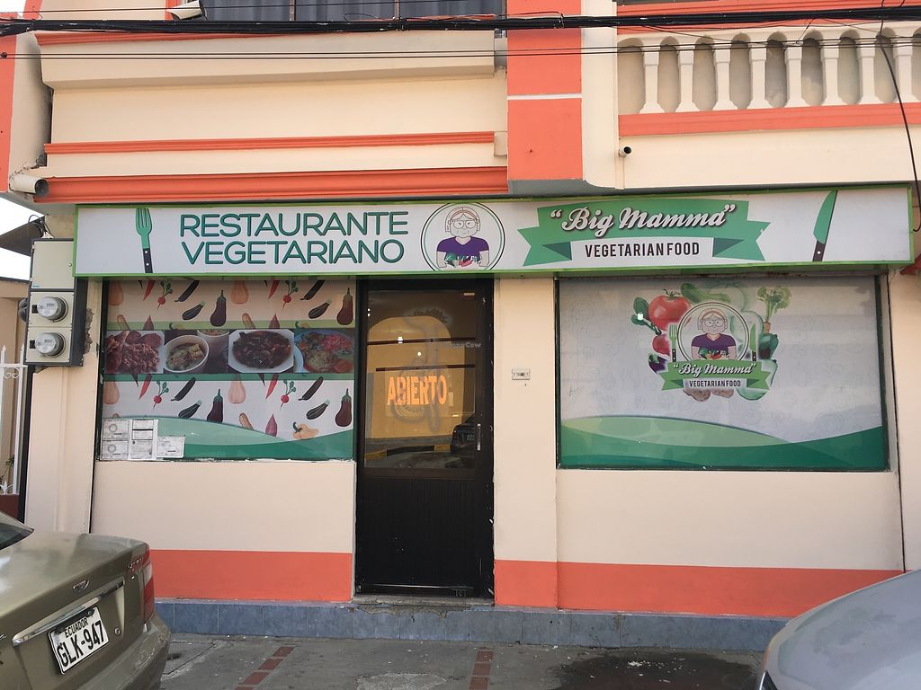 """Photo of Big Mamma Restaurante Vegetariano  by <a href=""""/members/profile/peas-full"""">peas-full</a> <br/>outside  <br/> January 2, 2018  - <a href='/contact/abuse/image/108382/342059'>Report</a>"""