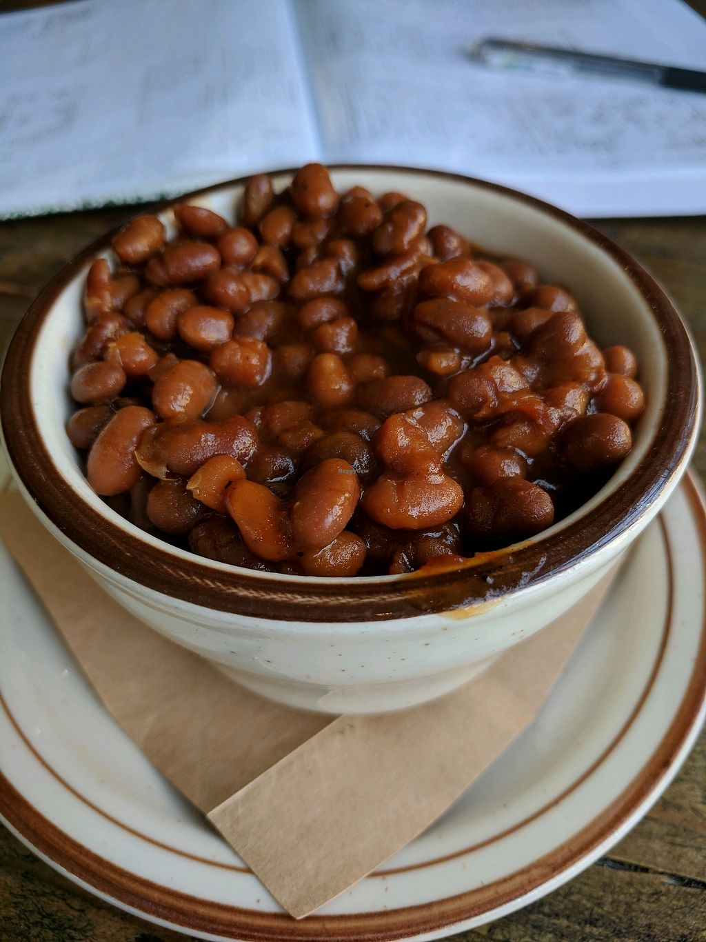 """Photo of CLOSED: The Lodge on Haight  by <a href=""""/members/profile/MatthewStein"""">MatthewStein</a> <br/>Vegetarian baked beans (which are vegan!) <br/> February 16, 2018  - <a href='/contact/abuse/image/108400/360092'>Report</a>"""