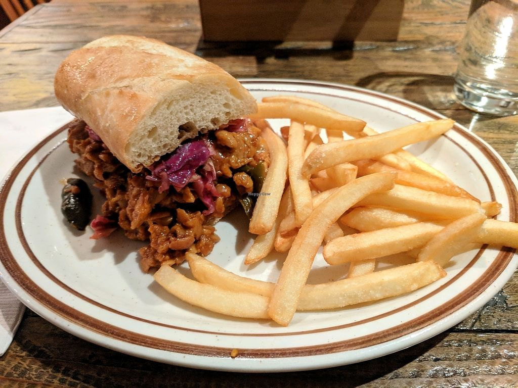 """Photo of CLOSED: The Lodge on Haight  by <a href=""""/members/profile/MatthewStein"""">MatthewStein</a> <br/>Vegan tempeh sloppy joe <br/> February 16, 2018  - <a href='/contact/abuse/image/108400/360093'>Report</a>"""