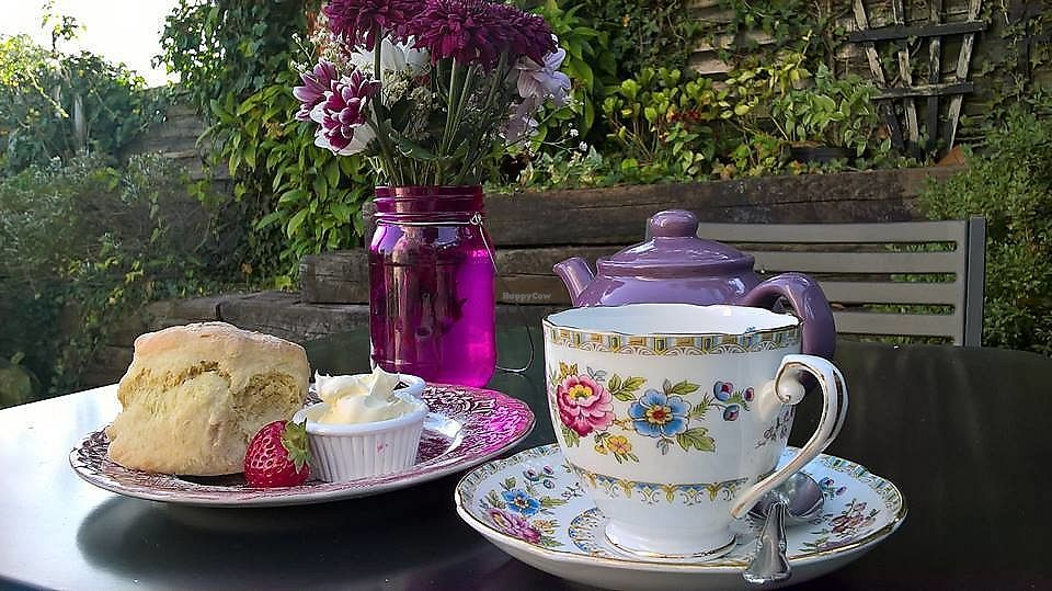 "Photo of Gardenia Tea House  by <a href=""/members/profile/GardeniaTeaHouse"">GardeniaTeaHouse</a> <br/>Cream Teas in our Private Courtyard <br/> January 5, 2018  - <a href='/contact/abuse/image/108403/343356'>Report</a>"