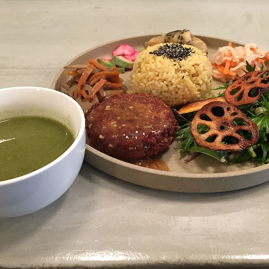 """Photo of Yamato Yakuzen Reset  by <a href=""""/members/profile/fumie"""">fumie</a> <br/>Fermentation lunch plate with seasonal soup. All organic and yes, Japanese traditional soy sauce, miso, hishio and all sorts of fermentation on a plate.  <br/> January 6, 2018  - <a href='/contact/abuse/image/108425/343522'>Report</a>"""