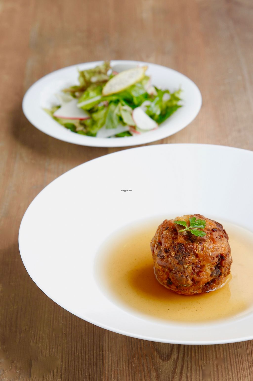 """Photo of Yamato Yakuzen Reset  by <a href=""""/members/profile/fumie"""">fumie</a> <br/>Only available here. Yamato Canederli, giant croquette mix of brown rice, bread and all sorts of vegetables, soaked in our special soup, the vegetable broth with Japanese wild herbs. One of a kind! Come with side dish <br/> January 6, 2018  - <a href='/contact/abuse/image/108425/343523'>Report</a>"""