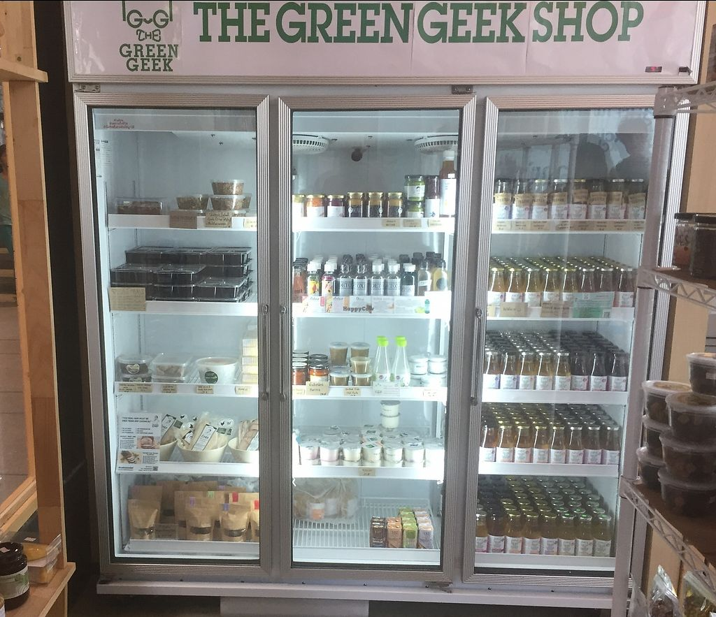"Photo of The Green Geek Shop  by <a href=""/members/profile/dhidden"">dhidden</a> <br/>Fridge <br/> January 7, 2018  - <a href='/contact/abuse/image/108431/343881'>Report</a>"