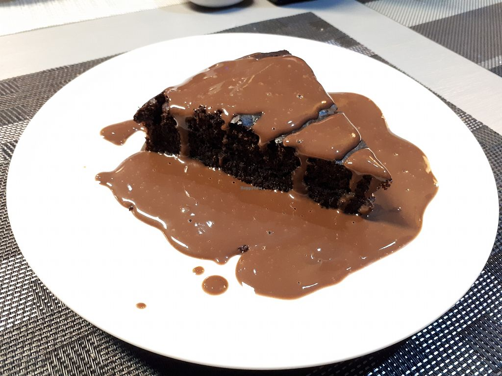"""Photo of Casa Veggy  by <a href=""""/members/profile/FulviaGherardelli"""">FulviaGherardelli</a> <br/>Vegan chocolate cake with chocolate sauce ? <br/> April 3, 2018  - <a href='/contact/abuse/image/108451/380132'>Report</a>"""