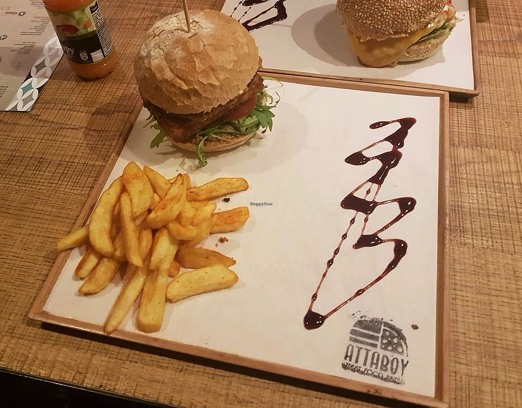"""Photo of Attaboy  by <a href=""""/members/profile/djshayz"""">djshayz</a> <br/>Marinated tofu burger <br/> April 9, 2018  - <a href='/contact/abuse/image/108468/382829'>Report</a>"""