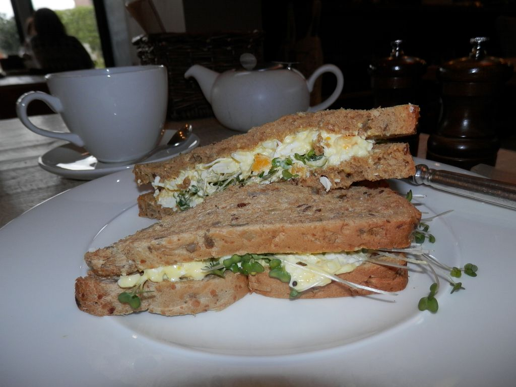 """Photo of CoCoes Cafe Deli  by <a href=""""/members/profile/Vegan_Belle"""">Vegan_Belle</a> <br/>Egg mayonnaise and cress sandwiches (granary bread) <br/> April 26, 2018  - <a href='/contact/abuse/image/108471/391253'>Report</a>"""