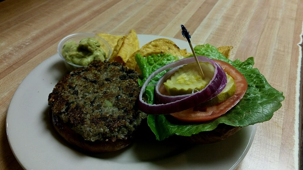 "Photo of The Nuggett Downtown Grill  by <a href=""/members/profile/WynterDulemba"">WynterDulemba</a> <br/>Quinoa, Black Bean and Veggie Burger <br/> January 6, 2018  - <a href='/contact/abuse/image/108515/343587'>Report</a>"