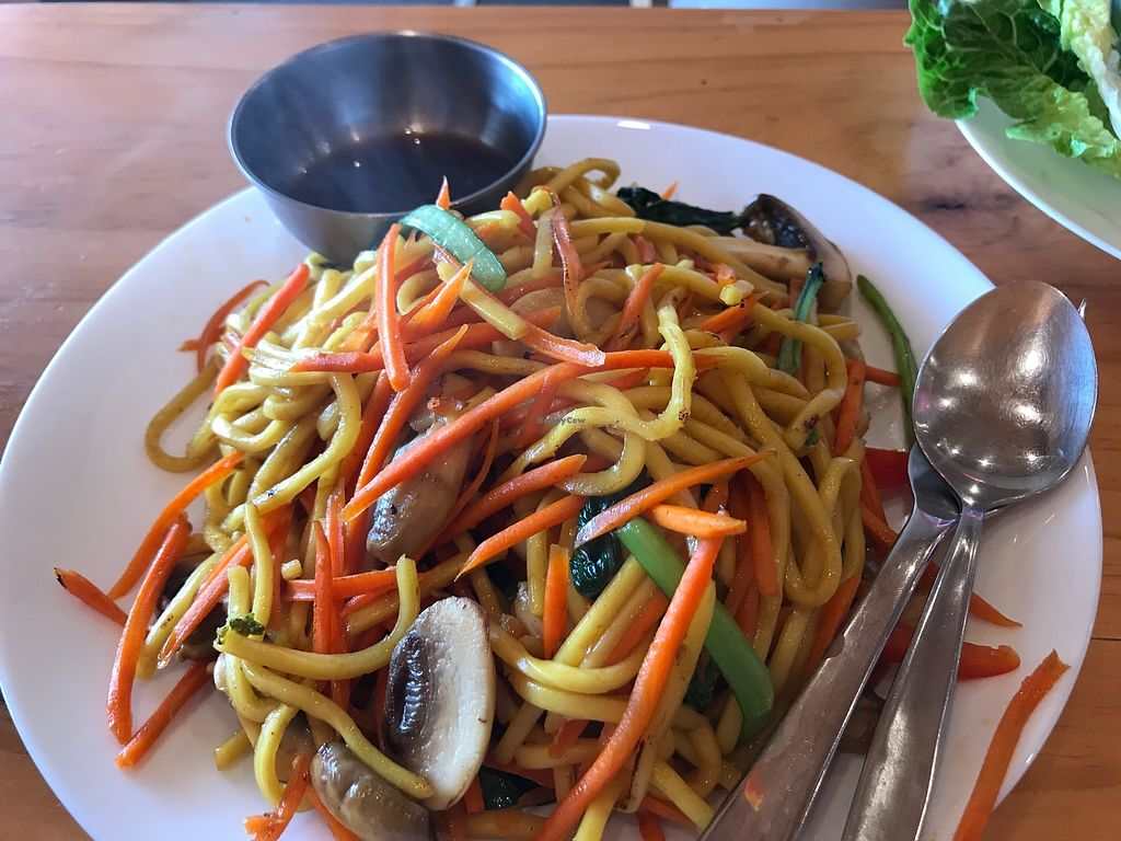 """Photo of Rock Daisy Cafe  by <a href=""""/members/profile/AyeshaKieraan"""">AyeshaKieraan</a> <br/>Stir fry noodles with Mushrooms and vegetables. Special soy sauce <br/> January 3, 2018  - <a href='/contact/abuse/image/108524/342401'>Report</a>"""