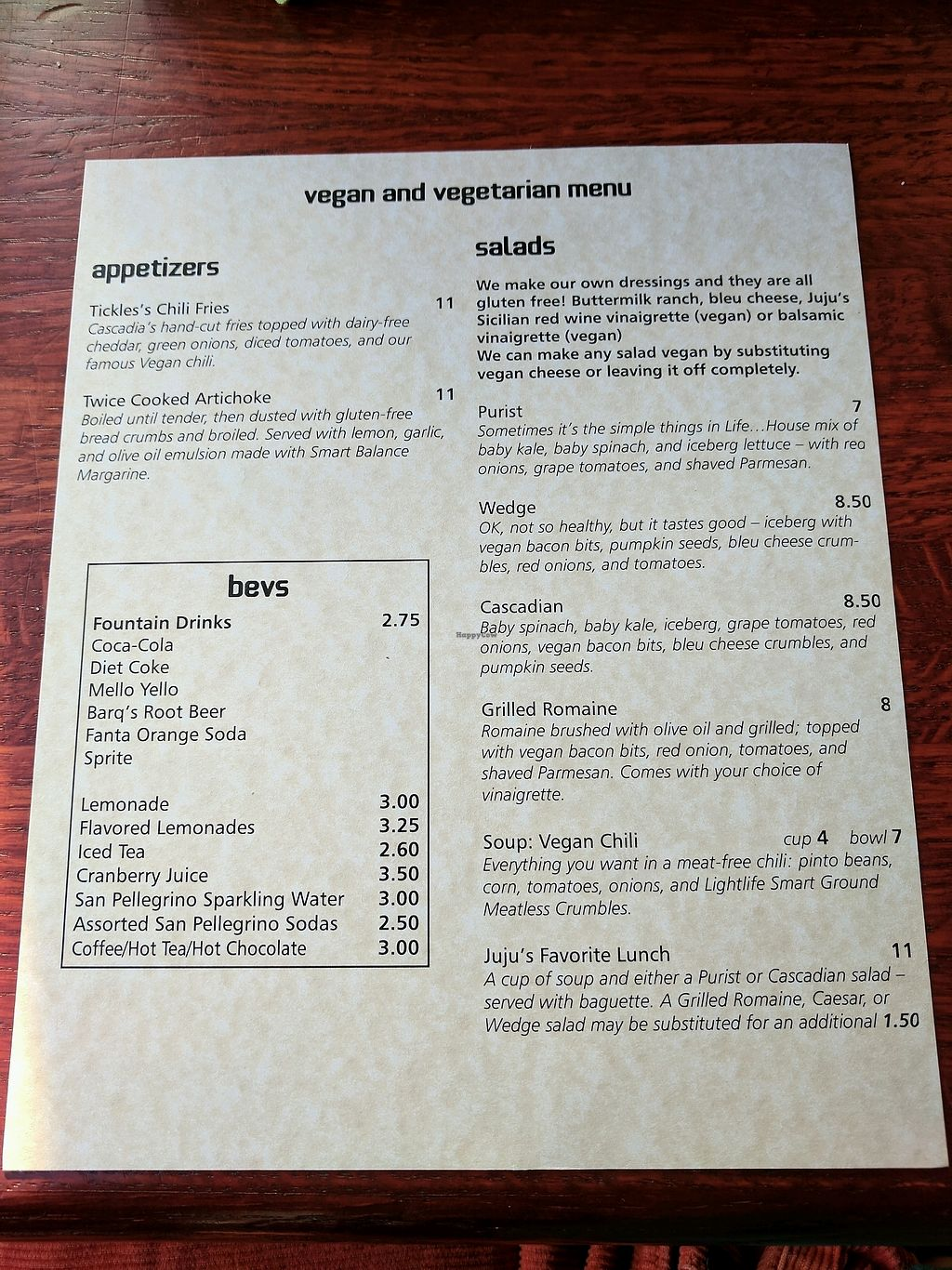"""Photo of Cascadia Grill  by <a href=""""/members/profile/Em%20C"""">Em C</a> <br/>veg menu <br/> January 18, 2018  - <a href='/contact/abuse/image/108540/347860'>Report</a>"""
