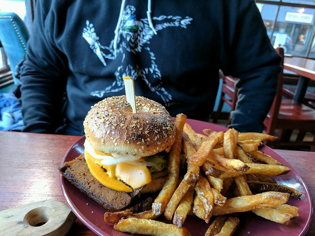 """Photo of Cascadia Grill  by <a href=""""/members/profile/Em%20C"""">Em C</a> <br/>sausage burger <br/> January 18, 2018  - <a href='/contact/abuse/image/108540/347861'>Report</a>"""