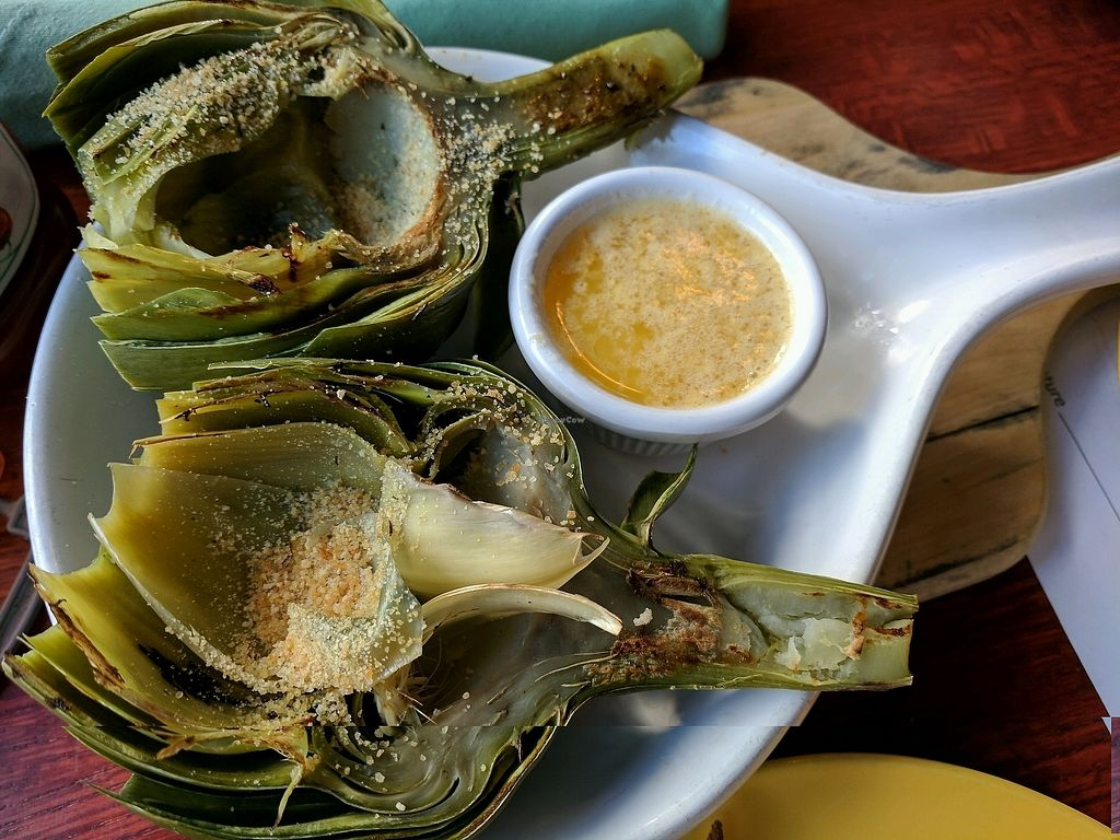 """Photo of Cascadia Grill  by <a href=""""/members/profile/Em%20C"""">Em C</a> <br/>artichoke with vegan butter <br/> January 18, 2018  - <a href='/contact/abuse/image/108540/347865'>Report</a>"""