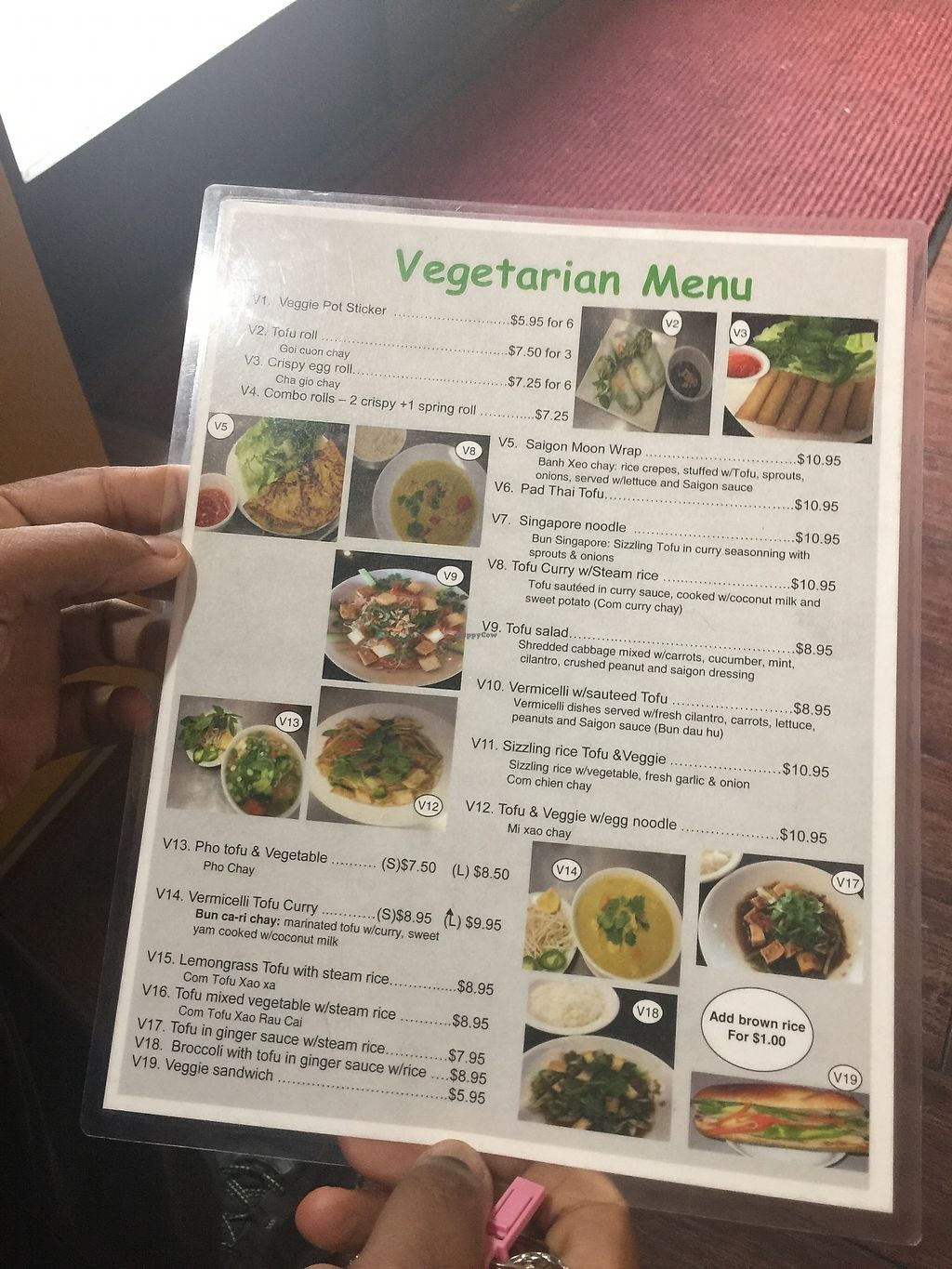 "Photo of Pho Saigon & Grill  by <a href=""/members/profile/vegansuncake"">vegansuncake</a> <br/>Some vegetarian items can be made vegan- such as pad thai (ask for no eggs) <br/> January 4, 2018  - <a href='/contact/abuse/image/108553/342765'>Report</a>"
