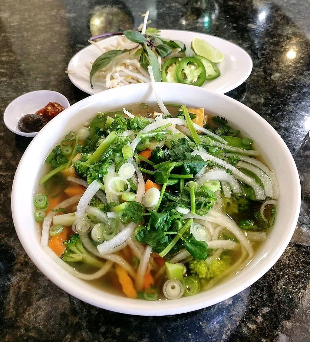 "Photo of Pho Saigon & Grill  by <a href=""/members/profile/KellyBone"">KellyBone</a> <br/>veggie pho <br/> March 22, 2018  - <a href='/contact/abuse/image/108553/374249'>Report</a>"