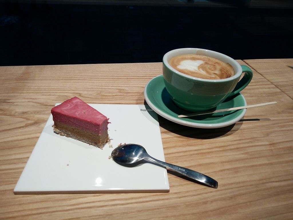 """Photo of GreenStreet  by <a href=""""/members/profile/martinicontomate"""">martinicontomate</a> <br/>raw cake and coffee with oat milk <br/> March 19, 2018  - <a href='/contact/abuse/image/108564/372993'>Report</a>"""
