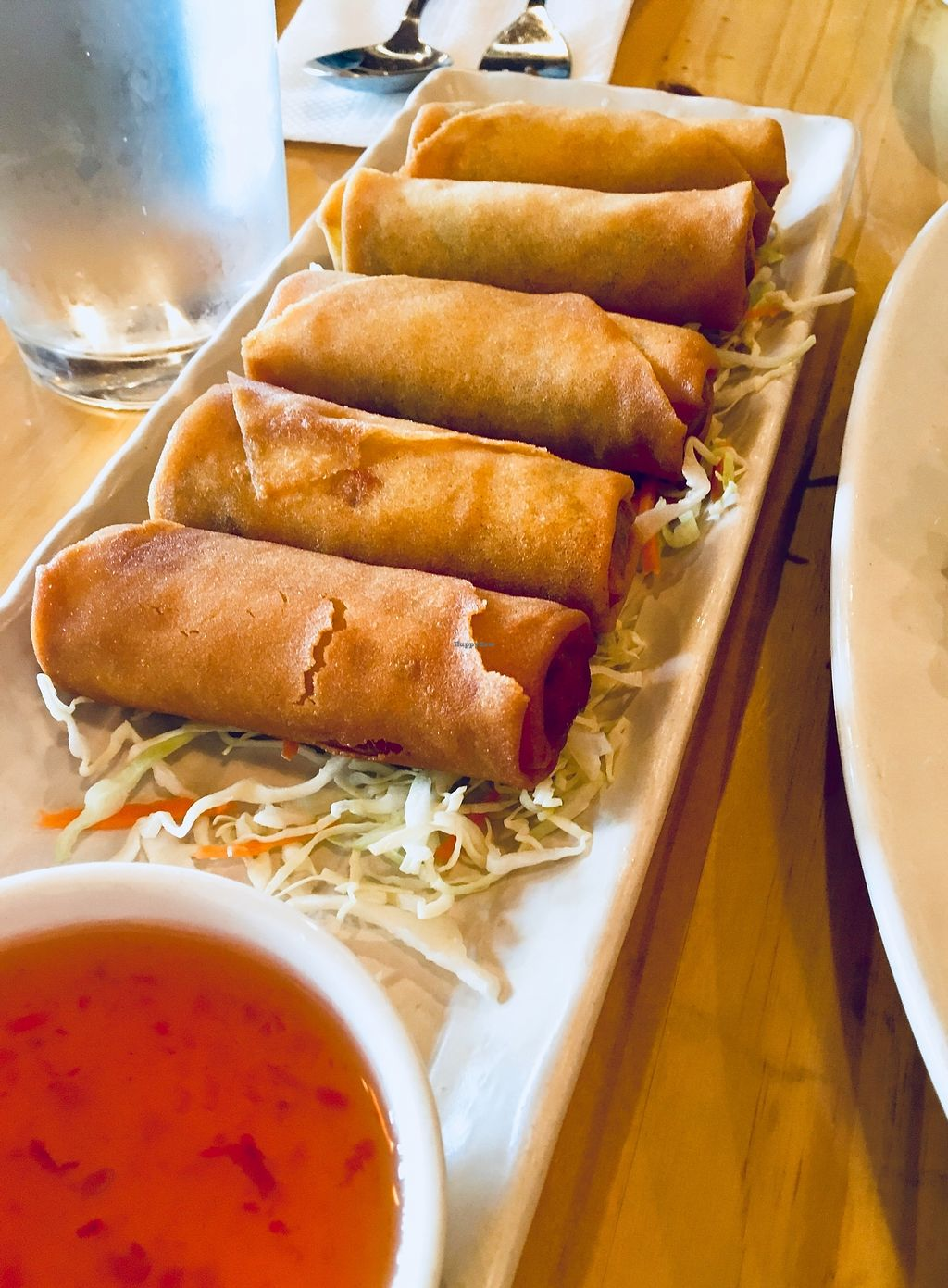 """Photo of Line Thai  by <a href=""""/members/profile/Clean%26Green"""">Clean&Green</a> <br/>Vegetable rolls <br/> January 4, 2018  - <a href='/contact/abuse/image/108573/343006'>Report</a>"""
