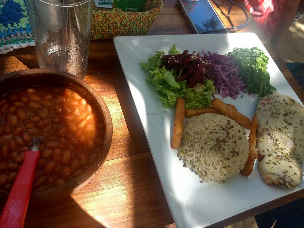 """Photo of Do Bem  by <a href=""""/members/profile/B%C3%A1rbaraBarbosa"""">BárbaraBarbosa</a> <br/>Rice, beans, salad and kibe <br/> January 4, 2018  - <a href='/contact/abuse/image/108590/342798'>Report</a>"""