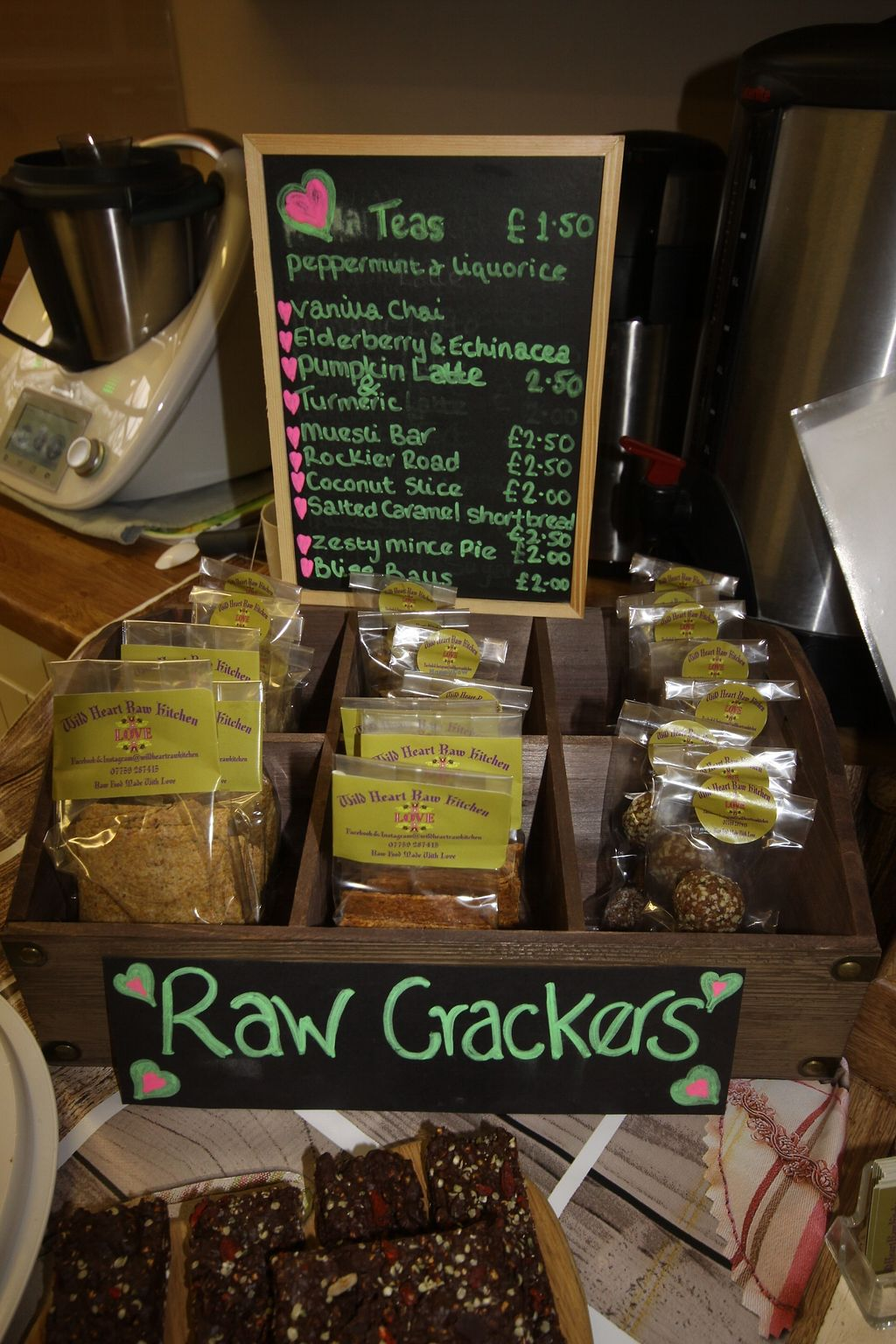 """Photo of Health & Wellbeing  by <a href=""""/members/profile/NJ08"""">NJ08</a> <br/>Raw vegan crackers for sale from the Pop Up Cafe  <br/> January 5, 2018  - <a href='/contact/abuse/image/108603/343350'>Report</a>"""