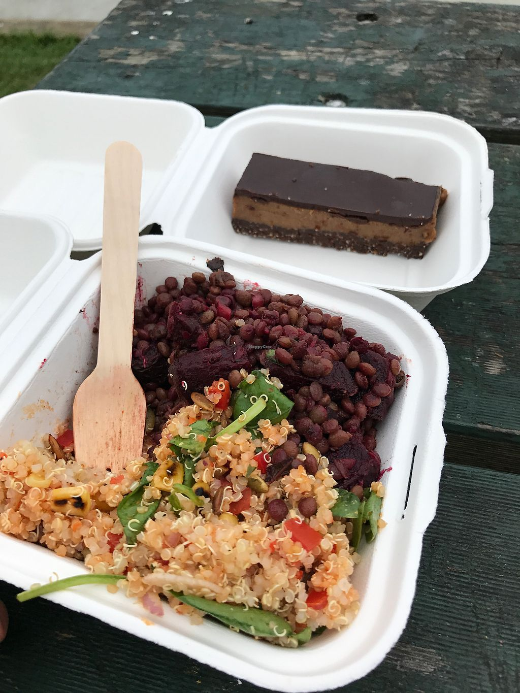 """Photo of The Pantry  by <a href=""""/members/profile/SabrinaMcKenzie"""">SabrinaMcKenzie</a> <br/>Delicious salad and raw cake  <br/> January 24, 2018  - <a href='/contact/abuse/image/108619/350580'>Report</a>"""