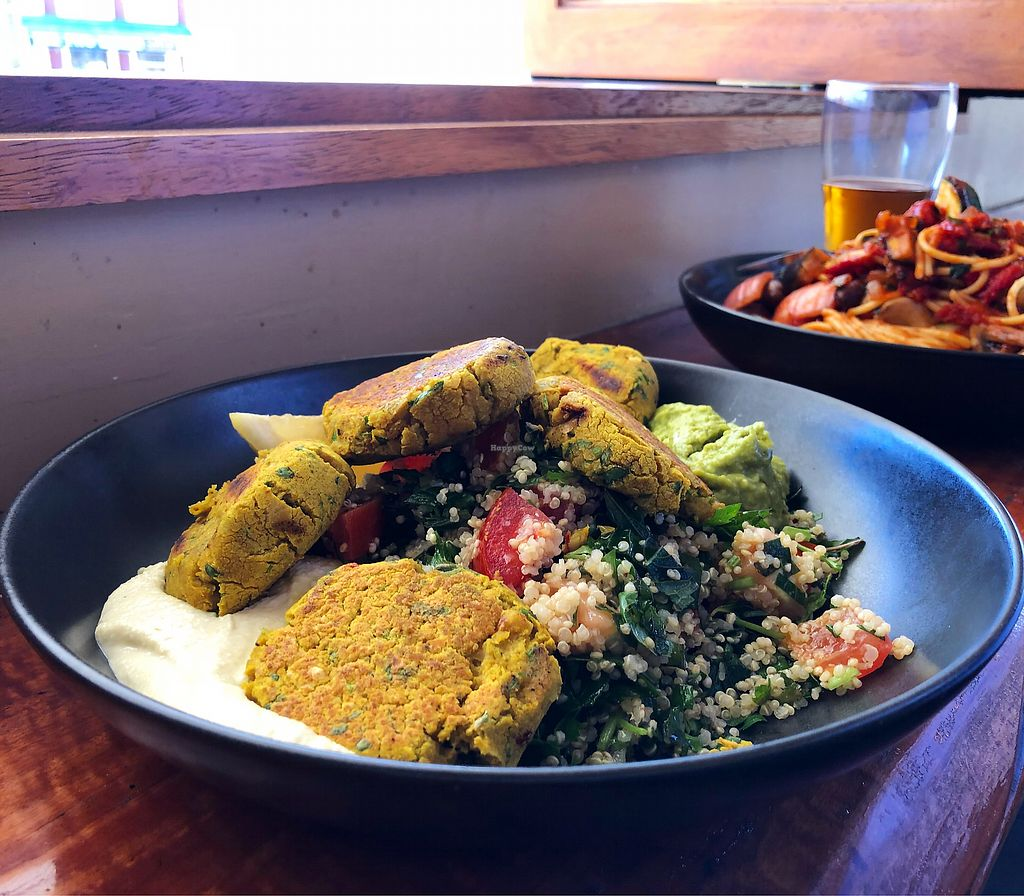 """Photo of Alpine Hotel  by <a href=""""/members/profile/BrookeCurlewis"""">BrookeCurlewis</a> <br/>Falafel bowl and a veggie pasta <br/> January 14, 2018  - <a href='/contact/abuse/image/108634/346437'>Report</a>"""