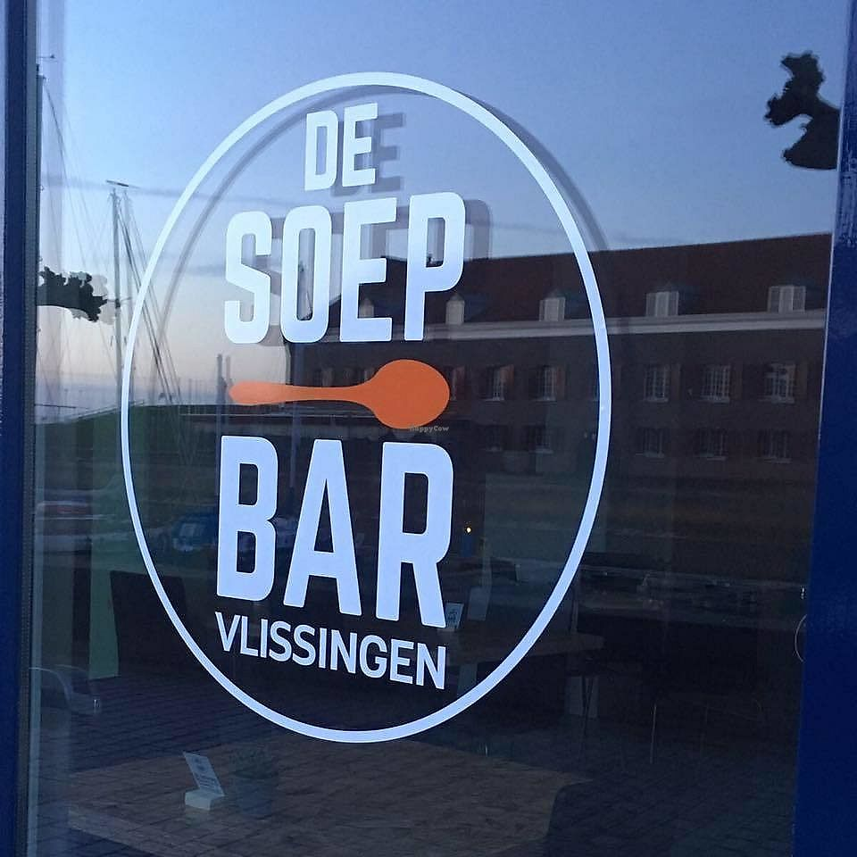 """Photo of De Soepbar   by <a href=""""/members/profile/MargotvanDijk"""">MargotvanDijk</a> <br/>The front of the lunchroom, reflecting Vlissingen's harbour <br/> January 9, 2018  - <a href='/contact/abuse/image/108709/344717'>Report</a>"""